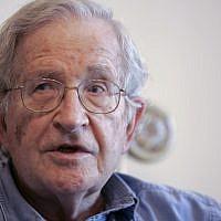 US academic Noam Chomsky (photo credit: AP/Nader Daoud)