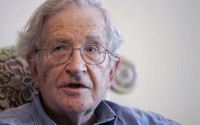 US academic Noam Chomsky (photo credit: AP/Nader Daoud)