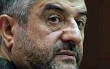 Commander of Iran's Revolutionary Guards Gen. Mohammad Ali Jafari holds a press conference in Tehran (photo credit: AP/Vahid Salemi)