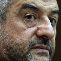 Commander of Iran's Revolutionary Guards Gen. Mohammad Ali Jafari holds a press conference in Tehran (photo credit: AP/Vahid Salemi)