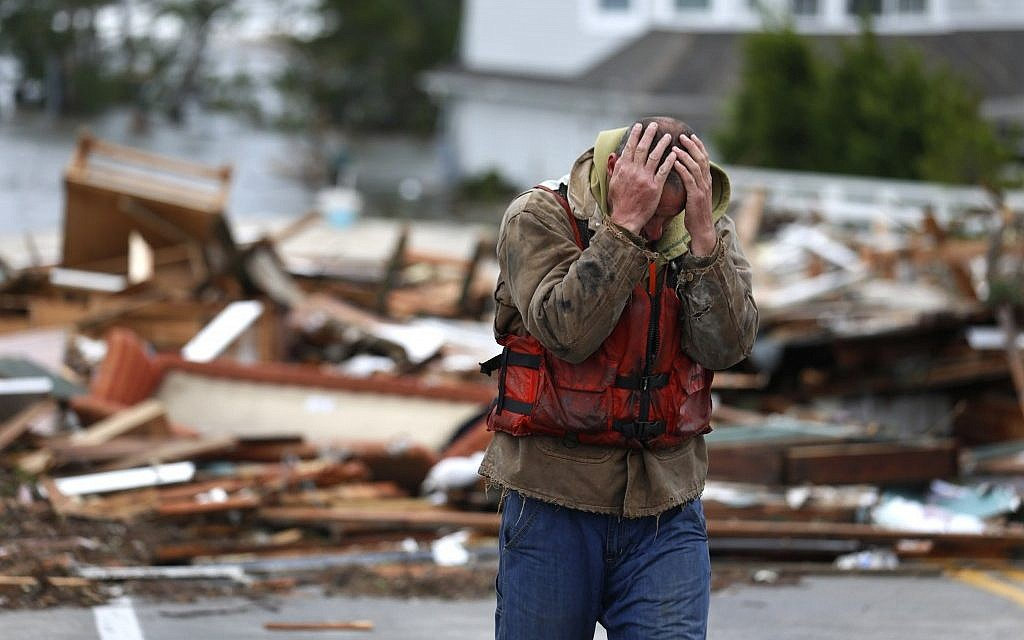 Illustrative photo of damage caused by Hurricane Sandy (photo credit: AP/Frank Franklin II)(photo credit: Julio Cortez/AP)