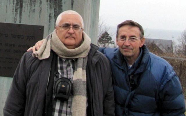 Professors Konstantin Komoshvili and Jacob Levitan (photo credit: Courtesy)