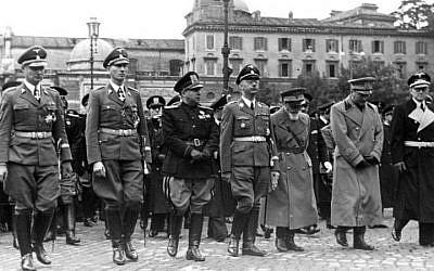 German and Italian brass in Rome, 1940. (photo credit: CC BY-SA  Bundesarchiv, Bild 121-2051, Wikimedia Common)