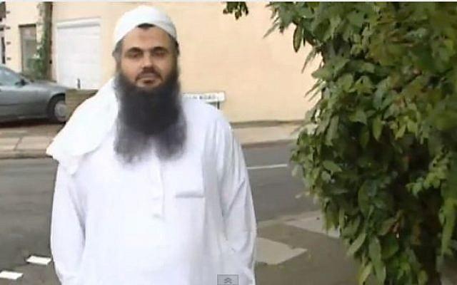 Radical Islamic cleric Abu Qatada, in 2001. (screencapture: youtube/ITN News)