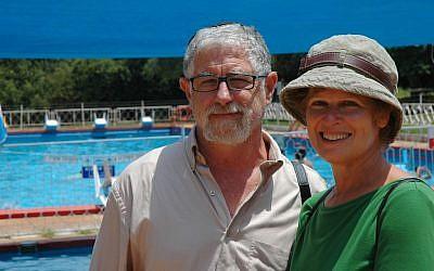 Seth and Sherri Mandell at Camp Koby (photo credit: Dena Wimpfheimer)