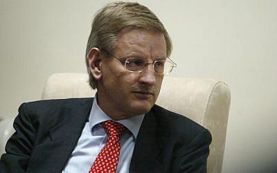Swedish Foreign Minister Carl Bildt (photo credit: Ahmad Gharabli /Flash90)