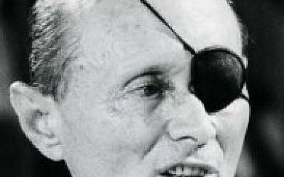 Moshe Dayan, June 1981. (photo credit: Moshe Shai/Flash90)