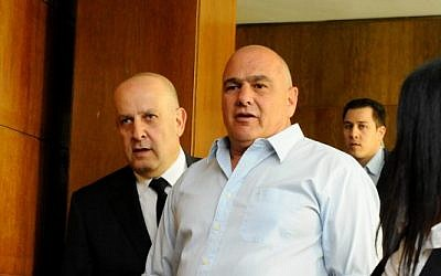 Danny Dankner at the Tel Aviv District Court in February 13, 2012. (photo credit: Yossi Zeliger/Flash90)