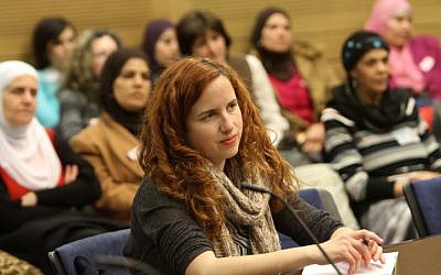Stav Shaffir attends a discussion in the Knesset in February (photo credit: Miriam Alster/Flash90)