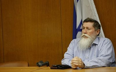 MK and National Union chairman Yaacov Katz in the Knesset, June 06, 2012. (photo credit: Miriam Alster/Flash90)