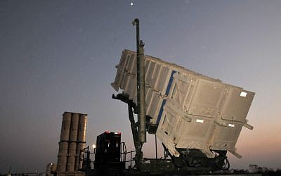 A Patriot anti-missile system in Israel (Shay Levy/Flash90)