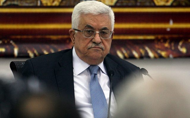 Palestinian President Mahmoud Abbas, September 15 (photo credit: Issam Rimawi/flash90)