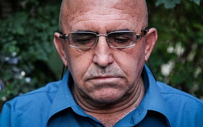 Mazmi Halabi, the father of the late Israeli soldier Majdi Halabi, at his house in the village of Daliyat al-Karmel on Thursday (photo credit: Avishag Shaar-Yashuv/Flash90)
