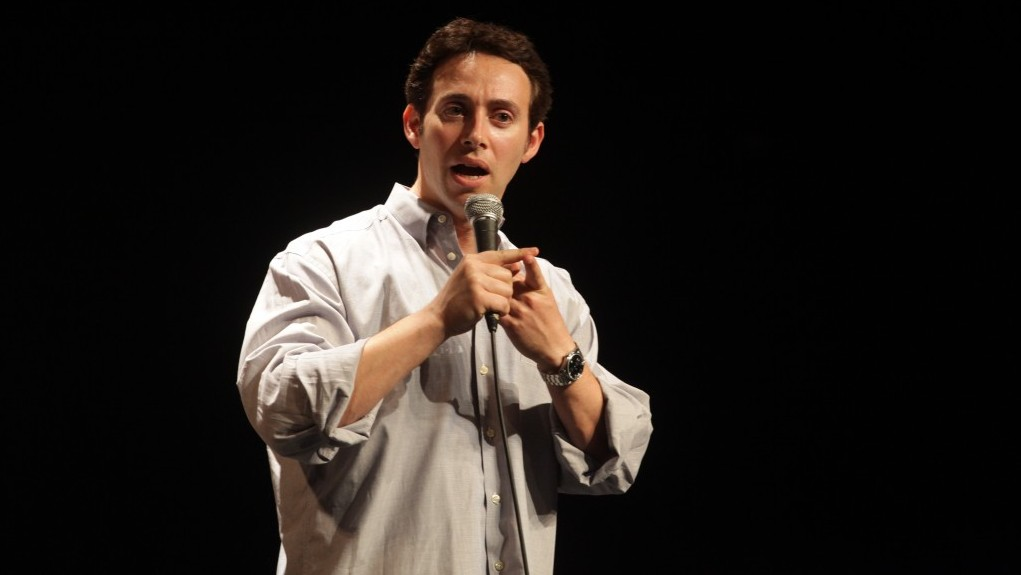 Avi Liberman performs at Comedy for Koby (photo credit: Yissachar Ruas)