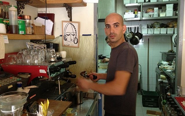 Jonathan Vadei, owner of the 'alternatively-kosher' Carousela, has just won a legal battle (photo credit: Jessica Steinberg/Times of Israel)