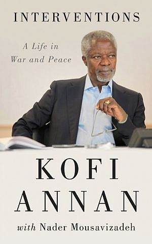 """Annan's new memoir looks at topics including the unsuccessful Middle East """"road map"""" to peace."""