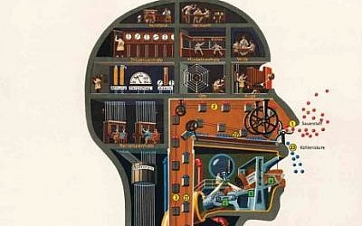 Influential medical illustrations by German-Jewish doctor Fritz Kahn imagined the human body as an industrial machine. (Photo credit: fritz-kahn.com)