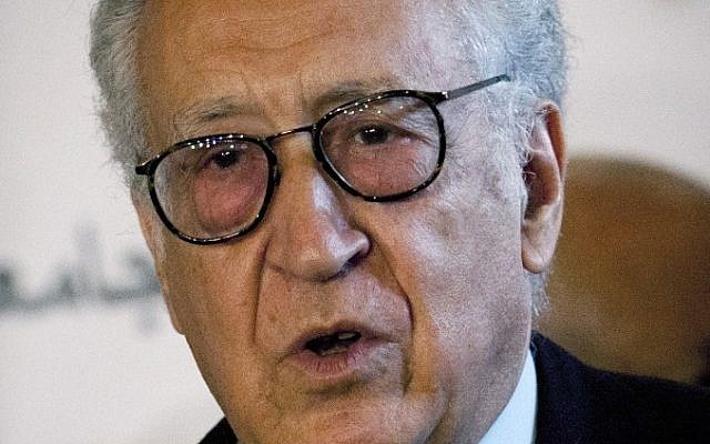 UN-Arab League envoy to Syria Lakhdar Brahimi (photo credit: AP/Nasser Nasser)