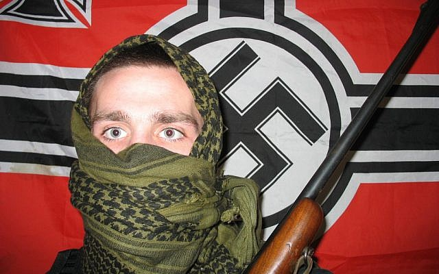 Illustrative photo of a neo-Nazi (CC BY-SA 3.0, by Froofroo, Wikimedia Commons)