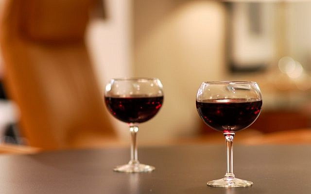 A glass of wine at dinner can help control certain health conditions (photo credit: CC-BY-2.0, by Patrick Kennedy, Wikimedia Commons)