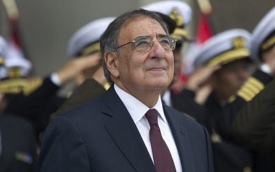 US Defense Secretary Leon Panetta attends a ceremony in Lima, Peru, last October (photo credit: AP/Martin Mejia/File)