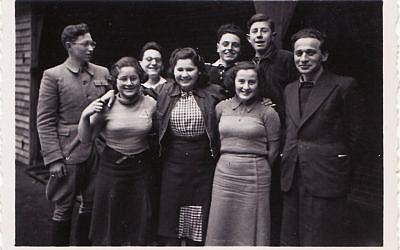 Some of the teenage Jewish Czech refugees in Denmark in the fall of 1941 (photo credit: Courtesy, archive of Judita Matyasova)