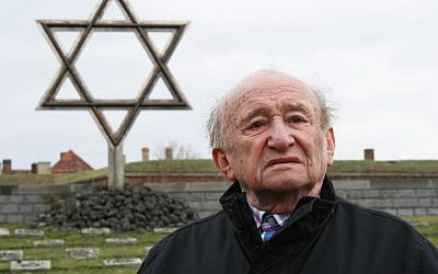 """Holocaust survivor Jack Aisenberg took """"Strictly Kosher"""" viewers along when he made an emotional return to the Buchenwald concentration camp. (Photo credit: Courtesy of ITV)"""