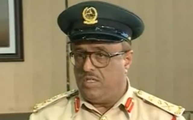 Dhahi Khalfan, Dubai's police chief (Screen capture: YouTube)