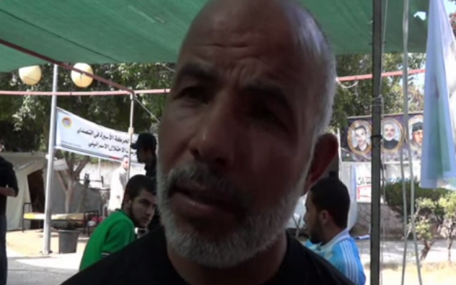 Tawfiq Abu Naim, the head Hamas security forces in Gaza, was freed in the 2011 Shalit prisoner exchange. (screen capture, YouTube)