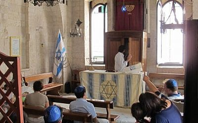 Used for centuries as a church, the former synagogue in Trani, Italy, has returned to its original role as a Jewish house of worship. (Ruth Ellen Gruber/JTA)