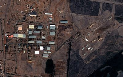 The Yarmouk military complex in Khartoum, Sudan seen in a satellite image made on October 25, 2012, prior to the alleged attack. (photo credit: AP/DigitalGlobe via Satellite Sentinel Project)