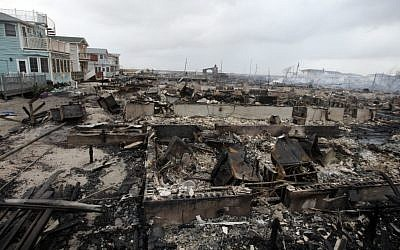 Illustrative photo of damage caused by Hurricane Sandy (photo credit: AP/Frank Franklin II)
