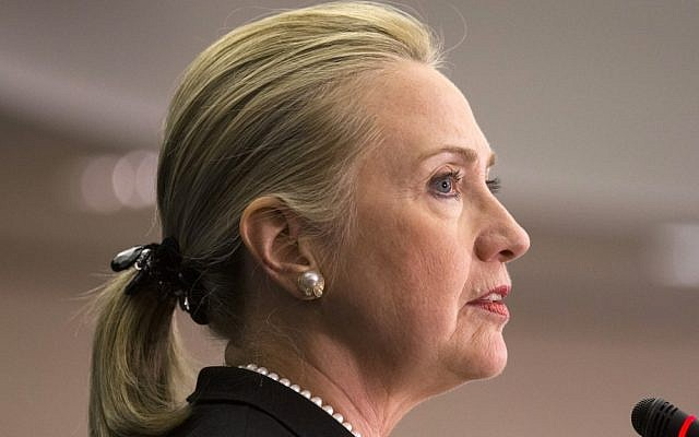 Hillary Clinton (photo credit: AP/J. Scott Applewhite/File)