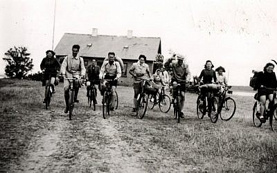Teenage Jewish Czech refugees in Denmark in the early years of World War II. Some 150 of the 700 teens saved by Danish foster families during the war were from Czechoslovakia. They often rode their bikes and met in Naestved, and shared stories and practiced their Hebrew, with the hopes of one day making it to Palestine. (photo credit: Courtesy, archive of Judita Matyasova)