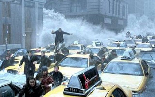 The still photo from the movie 'The Day After Tomorrow' that Press Tv used to depict damage from the storm Sandy. (photo credit: Courtesy)