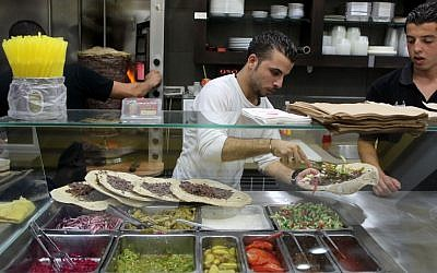 Illustrative photo of a shawarma restaurant (photo credit: Nati Shohat/Flash90)