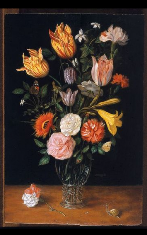 Flowers by young Jan Bruegel, painted around 1637-1640 (Courtesy Tel Aviv Museum of Art)