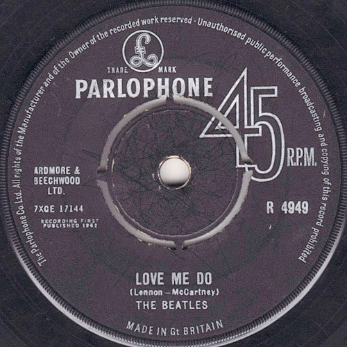 Love Me Do, the Parlophone single