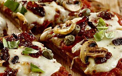 Phyllis Glazer's pan pizza (photo credit: Dania Weiner/Courtesy Modan Publishers)