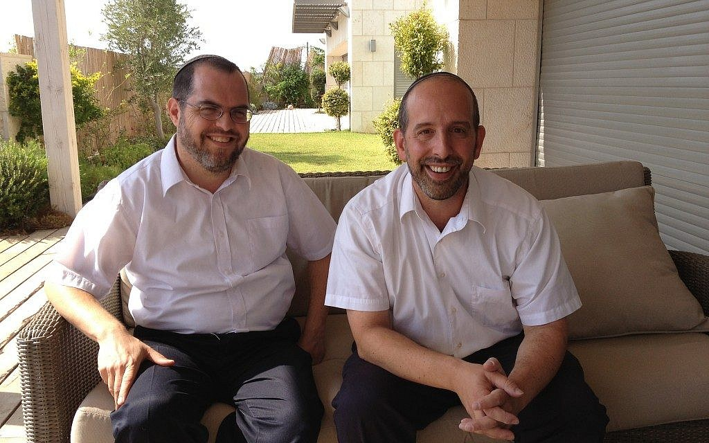 Rabbi Shlomo Sobol (left) and Rabbi David Fine, founders of Barkai (photo credit: Jessica Steinberg/Times of Israel)