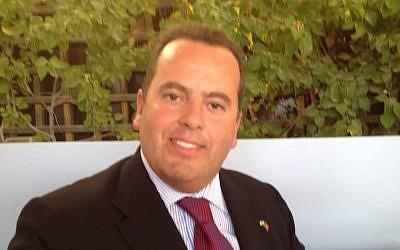 Portuguese MP Joao Rebelo (photo credit: Raphael Ahren/Times of Israel)