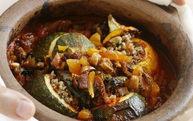 Quinoa stuffed vegetables (photo credit: Danya Weiner)