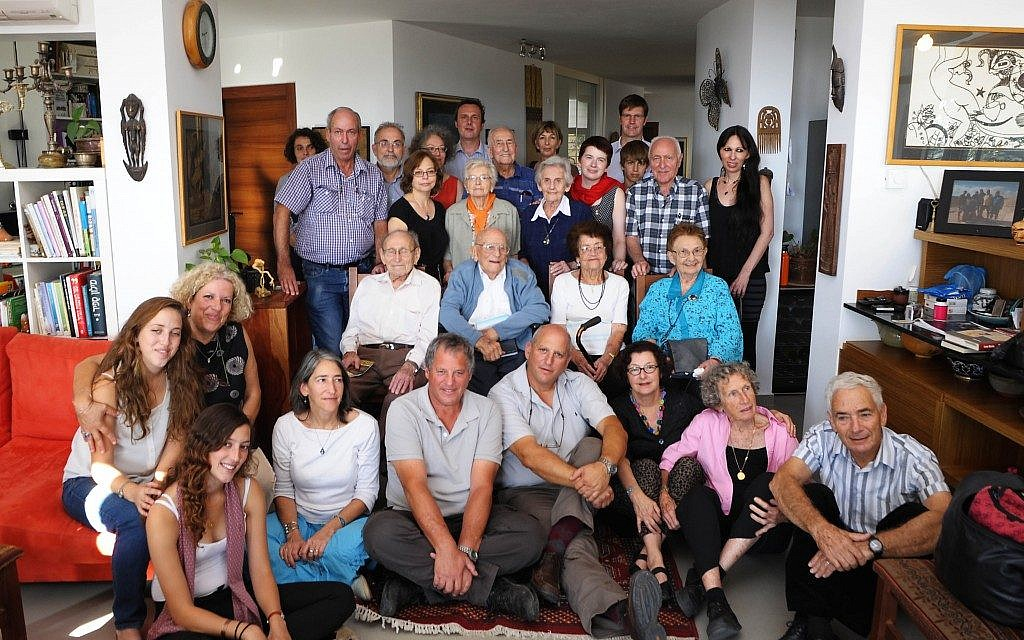 The reunion of the Czech Jewish refugees and their families in Neve Ilan this week (photo credit: Jan Jindra)