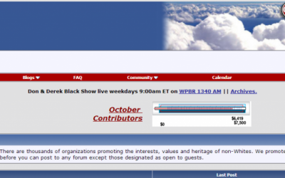 Screenshot: Stormfront website
