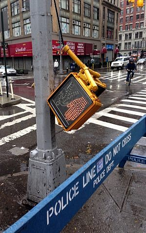 The streets of NYC after Hurricane Sandy (photo credit: CC-BY David Berkowitz/Flickr)