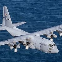 Illustrative. A Lockheed C-130E Hercules flying over the Atlantic Ocean. (US Air Force/ Wikimedia Commons)