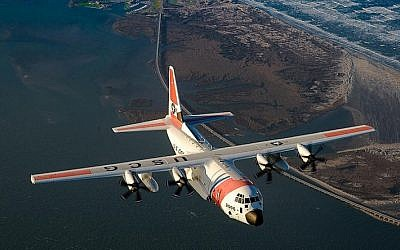 An illustrative photo of Lockheed Martin's 'Super' Hercules plane, the C-130J (photo credit: US Coast Guard/Wikimedia Commons)