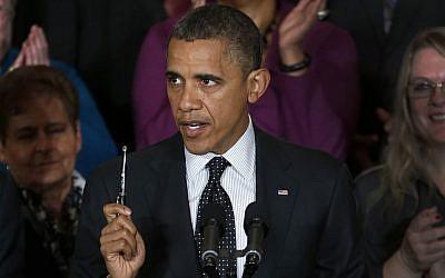 US President Barack Obama (photo credit: AP/Carolyn Kaster)