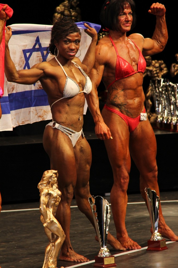 Alana Shipp onstage after winning third place in the Ms. Physique title in Hamburg, Germany (Courtesy Alana Shipp)