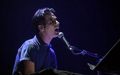 Israeli singer Aviv Geffen, June 2012 (photo credit: Uri Lenz/FLASH90)